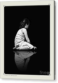Contemplation In Dark Acrylic Print by Pedro L Gili