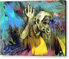 Contemplation Of Zeus Acrylic Print by Miki De Goodaboom