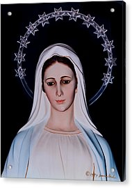 Contemplative Our Lady Queen Of Peace  Acrylic Print
