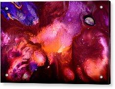 Contemporary Abstract Purple Bubbles By Kredart Bubl Acrylic Print by Serg Wiaderny