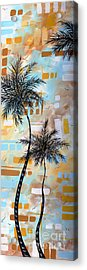 Contemporary Abstract Tropical Palm Tree Painting Colorful And Fun By Megan Duncanson Acrylic Print