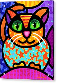 Contented Cat Acrylic Print