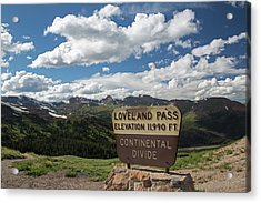 Continental Divide Sign Acrylic Print by Jim West