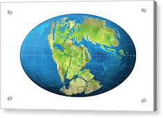 Continents 150 Million Years Ago Acrylic Print