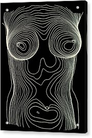 Contour Map Of Female Chest & Abdomen Acrylic Print