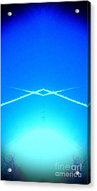 Acrylic Print featuring the photograph Contrail Pyramid  by Karen Newell