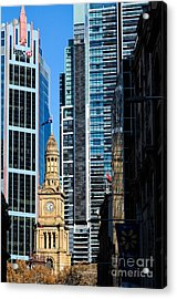 Contrasting Architectures - Old And Modern Acrylic Print