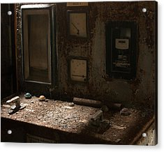 Control Panel In Decay Acrylic Print