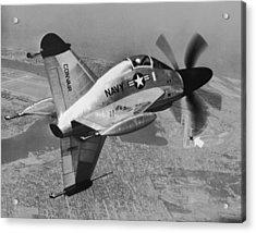 Convair's Xfy-1, pogo Acrylic Print by Underwood Archives