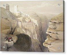 Convent Of St. Saba, April 4th 1839 Acrylic Print