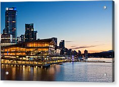 Convention Centre Sunset Acrylic Print by Alexis Birkill