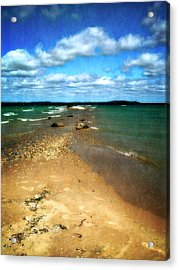 Convergence Acrylic Print by Michelle Calkins