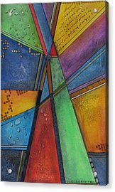 Acrylic Print featuring the painting Convergence by Nicole Nadeau