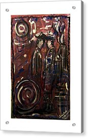 Conversation In The Park Acrylic Print by Mimulux patricia no No