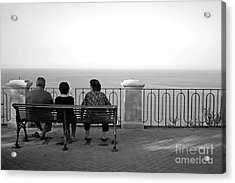 Conversations By The Sea Acrylic Print