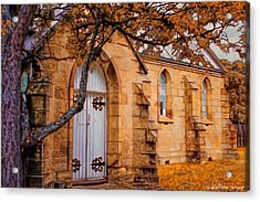 Convict Built Church 1873 Acrylic Print by Wallaroo Images