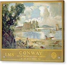 Conway Castle Acrylic Print by Sir David Murray