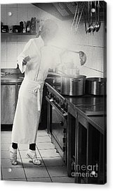 Acrylic Print featuring the pyrography Cook by Evgeniy Lankin