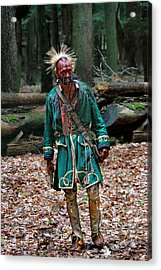 Cook Forest Native American 2013 Acrylic Print by Randy Steele