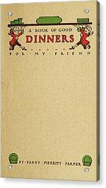Cookbook, 1914 Acrylic Print by Granger