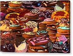 Cookie Crazy Acrylic Print by Alixandra Mullins