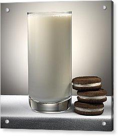 Cookies And Milk Acrylic Print by Robert Mollett