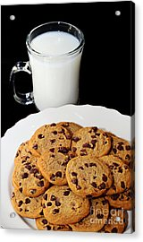 Cookies - Milk - Chocolate Chip - Baker Acrylic Print by Andee Design