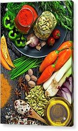 Cooking And Seasoning Ingredients Acrylic Print by Fcafotodigital