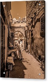 Cooking On The Streets Of Marrakech Acrylic Print