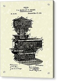 Cooking Stove 1894 Patent Art Acrylic Print by Prior Art Design