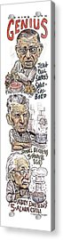 'cooking With Genius' Acrylic Print by Drew Friedman