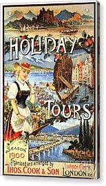 Cook�s 1890s Uk Holidays Holiday Acrylic Print by The Advertising Archives