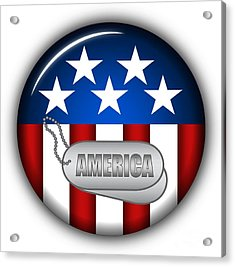 Cool America Insignia Acrylic Print by Pamela Johnson