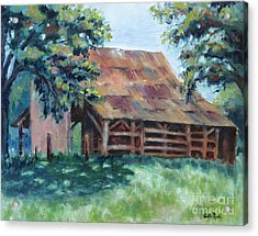 Cool Barn Acrylic Print by William Reed
