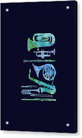 Cool Blue Band Acrylic Print by Jenny Armitage