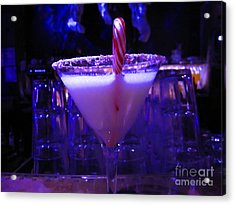 Cool Blue Cocktail Acrylic Print by Kym Backland