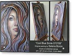 Cool Blue Smile 070709 Comp Acrylic Print