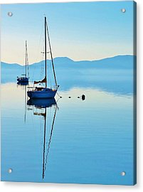 Cool Blue Tahoe Sail Acrylic Print