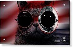 Cool Cat Painting Acrylic Print