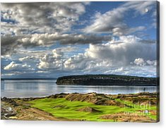 Acrylic Print featuring the photograph Cool Clouds - Chambers Bay Golf Course by Chris Anderson