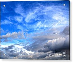 Cool Clouds Acrylic Print by Jay Nodianos