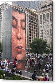 Cool Crowd Acrylic Print by Ann Horn