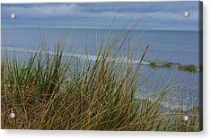 Cool Day At The Beach Acrylic Print by Rosemarie E Seppala