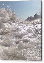 Cool Foam Acrylic Print
