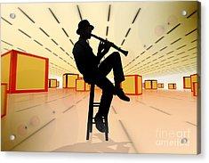 Cool Jazz 3 Acrylic Print by Bedros Awak