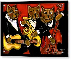 Cool Jazz Cats Acrylic Print