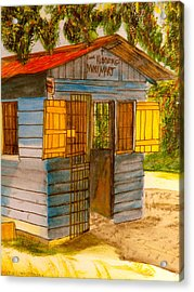 Cool Runnings Mini Mart Acrylic Print by Larry Farris