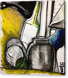 Cool Still Life Acrylic Print by Helen Syron