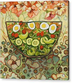 Cool Summer Salad Acrylic Print by Jen Norton