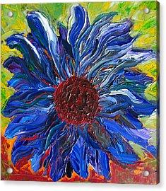 Cool Sunflower On A Sunny Day Acrylic Print